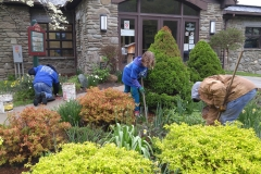 Stone House Crew working at Visitors Center